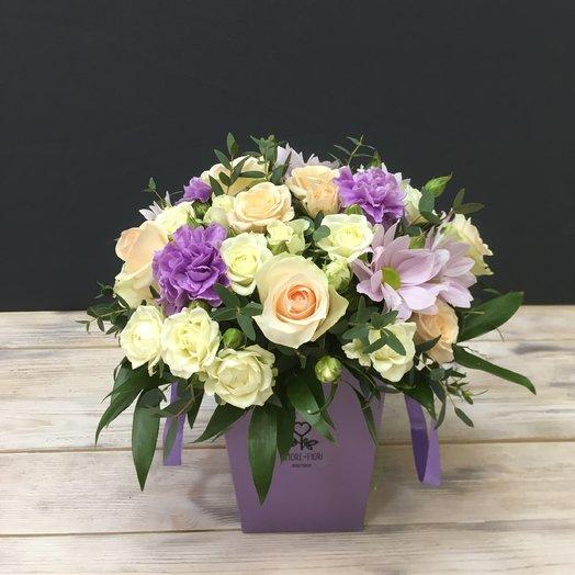 Цветочная коробочка: букеты цветов на заказ Flowwow