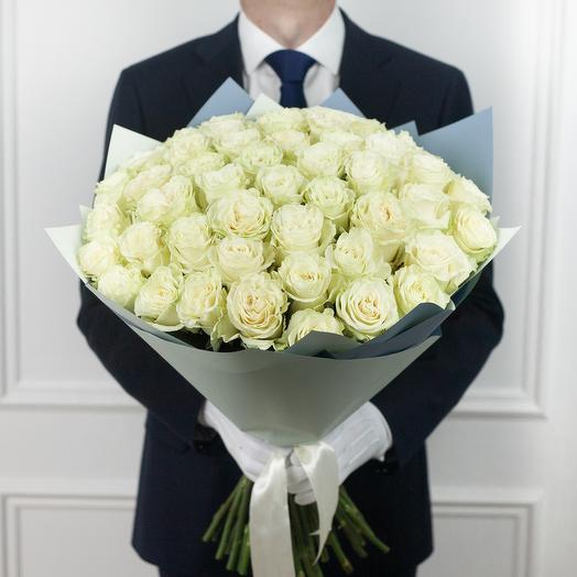 Букет из 51 эквадорской розы: букеты цветов на заказ Flowwow