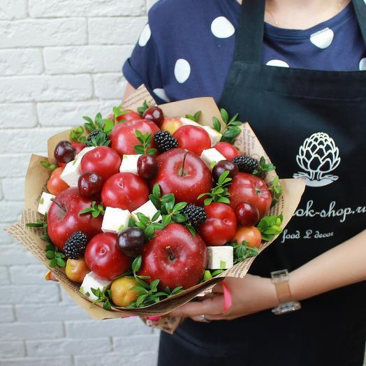 Фруктово-ягодный букет с пастилой: букеты цветов на заказ Flowwow