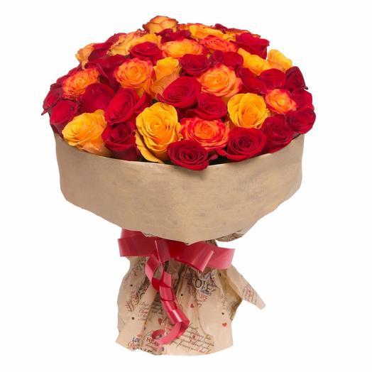 Пылающий огонь: букеты цветов на заказ Flowwow
