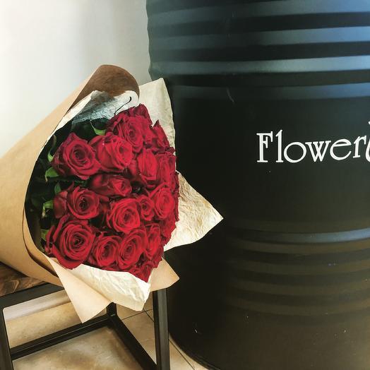 Роза Эквадор 70 см: букеты цветов на заказ Flowwow