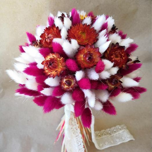Букет из сухоцветов: букеты цветов на заказ Flowwow