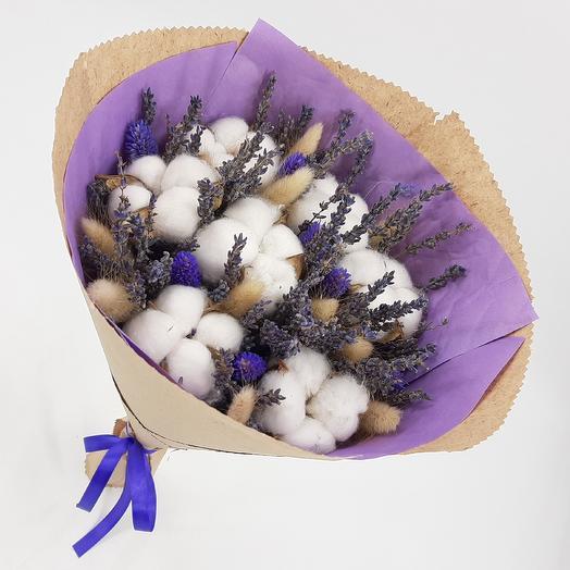 Лаванда, хлопок, лагурус: букеты цветов на заказ Flowwow
