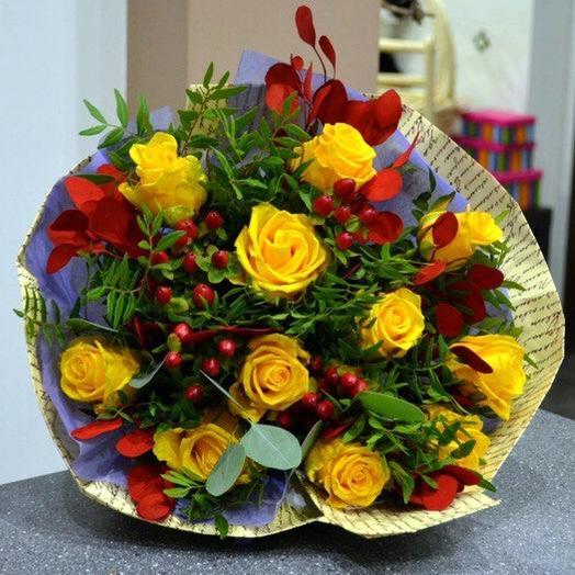 Комплимент в крафте 6: букеты цветов на заказ Flowwow