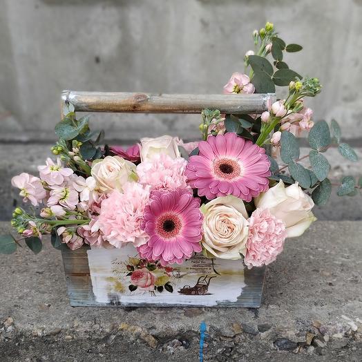 Композиция французское Кантри: букеты цветов на заказ Flowwow