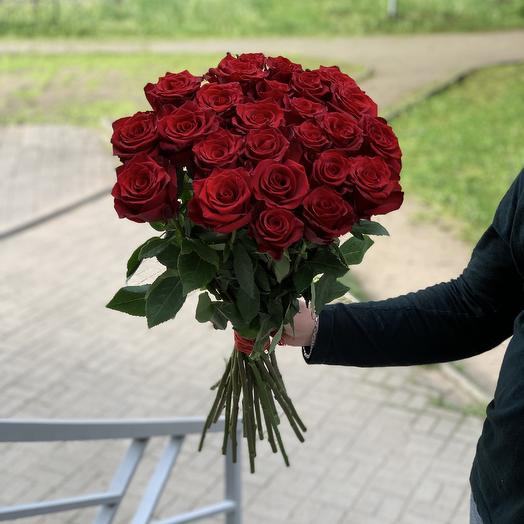 25 Red roses 60cm: flowers to order Flowwow