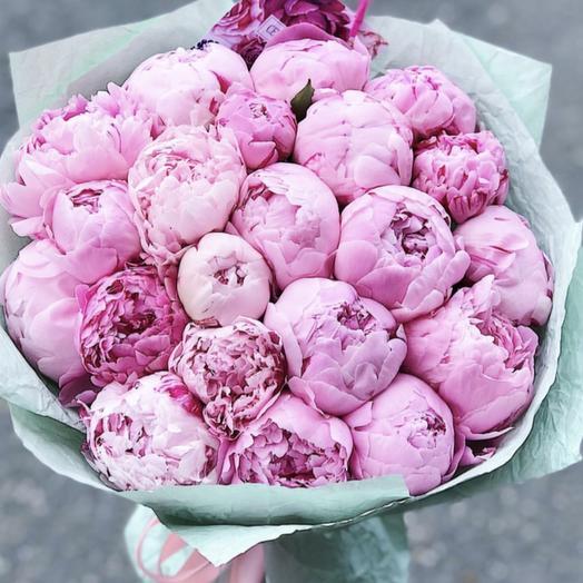Пионы тиффани: букеты цветов на заказ Flowwow