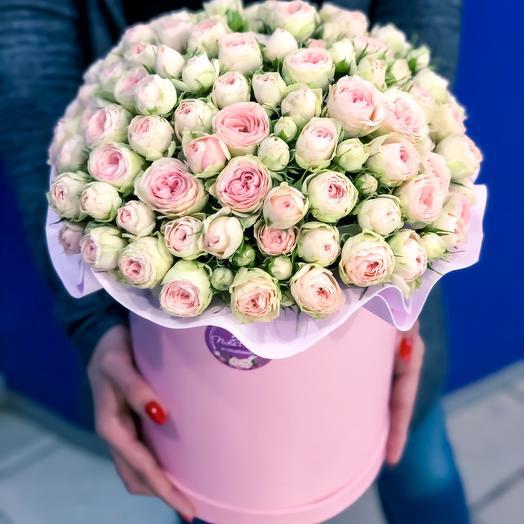 Коробка Нежная песнь любви: букеты цветов на заказ Flowwow