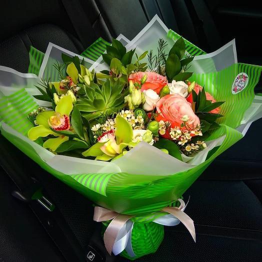 """Букетик """"Изумрудный город"""": букеты цветов на заказ Flowwow"""