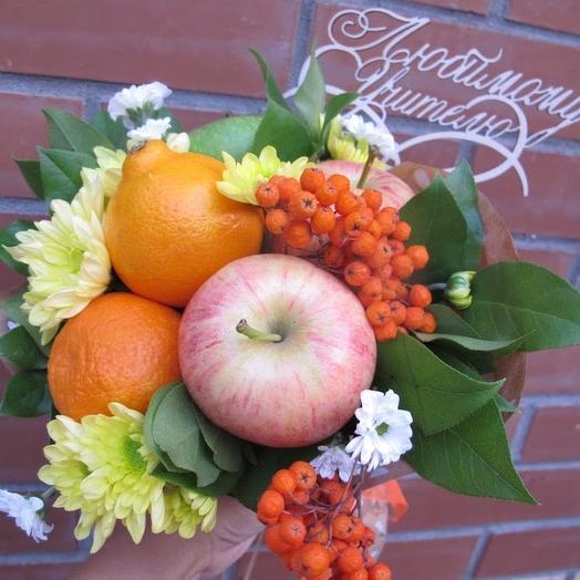 Фруктовый букет «для учителя»: букеты цветов на заказ Flowwow