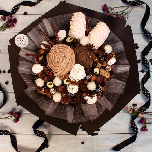 Шоколадная нежность: букеты цветов на заказ Flowwow