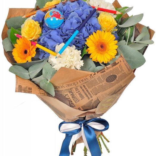 Букет на 1 Сентября 9: букеты цветов на заказ Flowwow