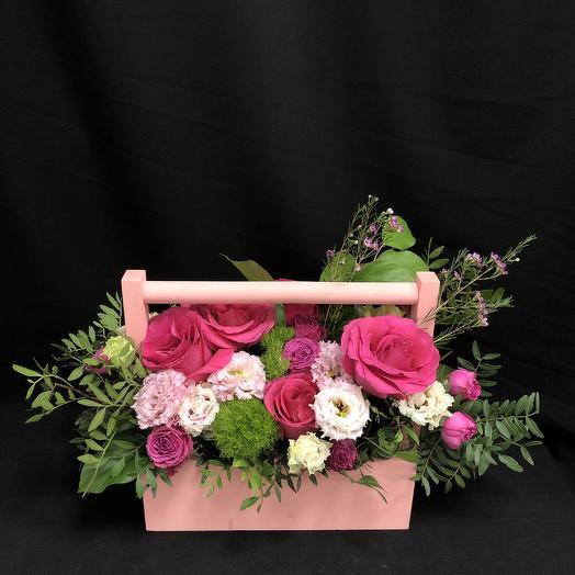Ящичек удовольствия: букеты цветов на заказ Flowwow