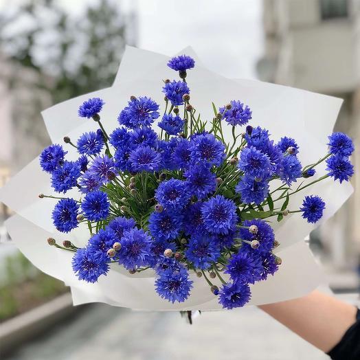 """Букет """"Полевые васильки"""": букеты цветов на заказ Flowwow"""
