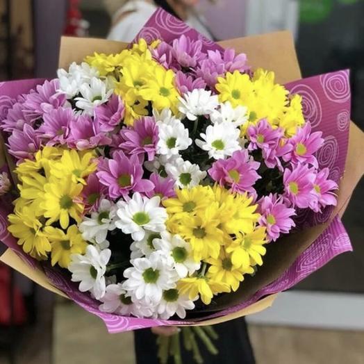 Букет «15 хризантем микс»: букеты цветов на заказ Flowwow
