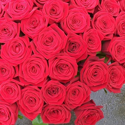 Букет алых роз: букеты цветов на заказ Flowwow