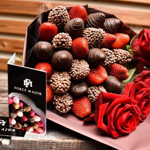 Strawberry and Chocolate 6: букеты цветов на заказ Flowwow