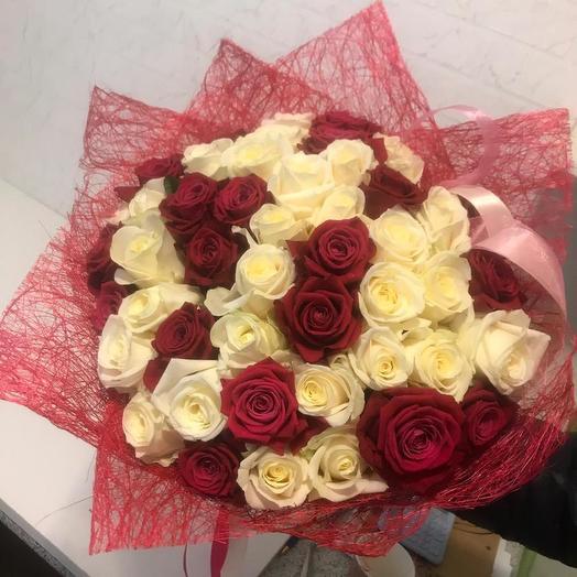 Микс из роз 51 шт: букеты цветов на заказ Flowwow