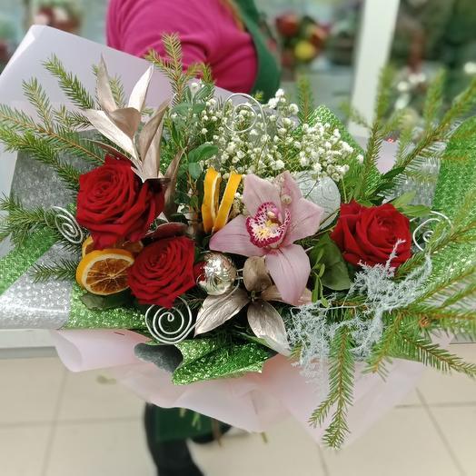 """Букет """"зимняя сказка"""": букеты цветов на заказ Flowwow"""