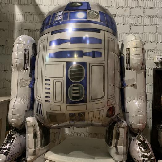 Воздушный шар ходячая фигура R2-D2: букеты цветов на заказ Flowwow