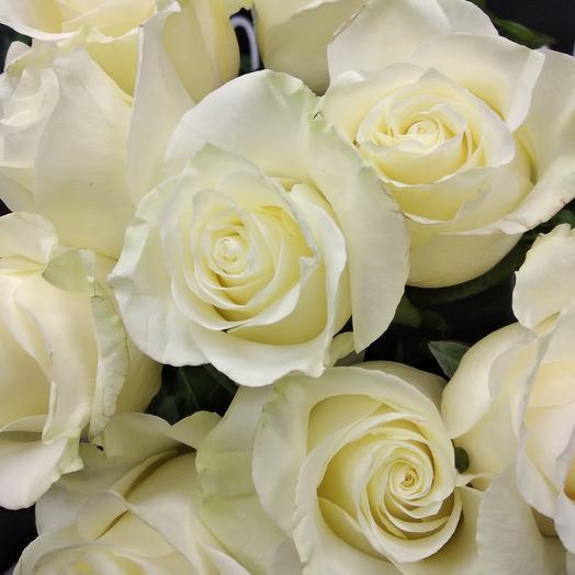 White Choco Roses 70 sm: букеты цветов на заказ Flowwow