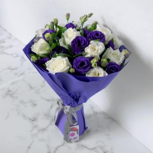 """БУКЕТ НА ДЕНЬ ВЛЮБЛЕННЫХ """"ОКЕАН ЛЮБВИ"""": букеты цветов на заказ Flowwow"""