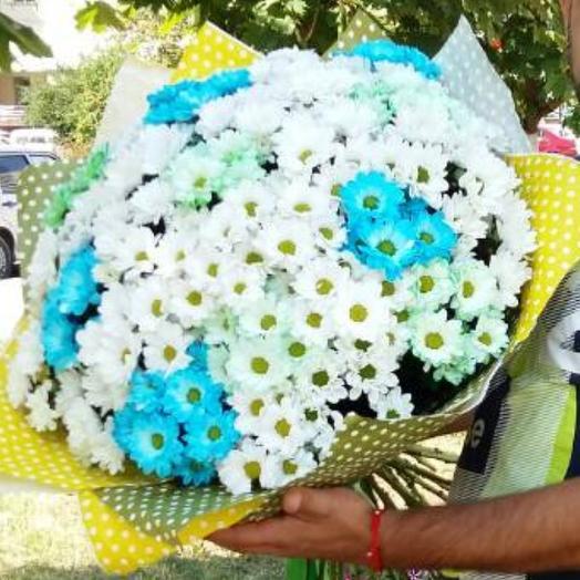 Букет из 33 кустовой хризантемы микс: букеты цветов на заказ Flowwow