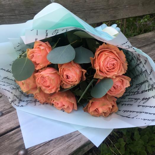 Персиковые Розы Кахала