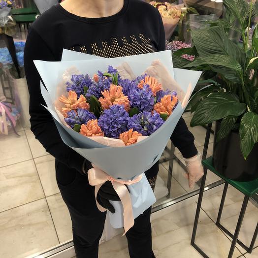 Гиацинты микс: букеты цветов на заказ Flowwow