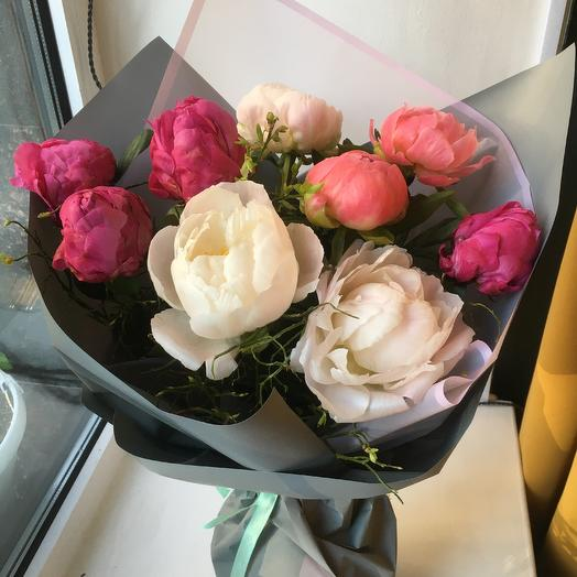 Пионы mix: букеты цветов на заказ Flowwow