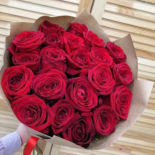 21 Роза в крафт бумаге
