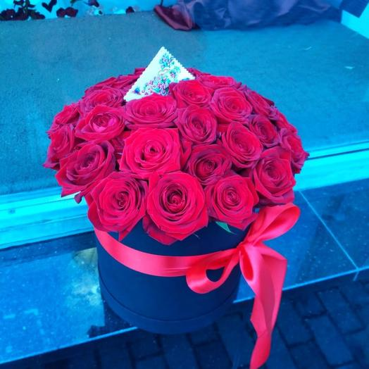 29 роз в коробке