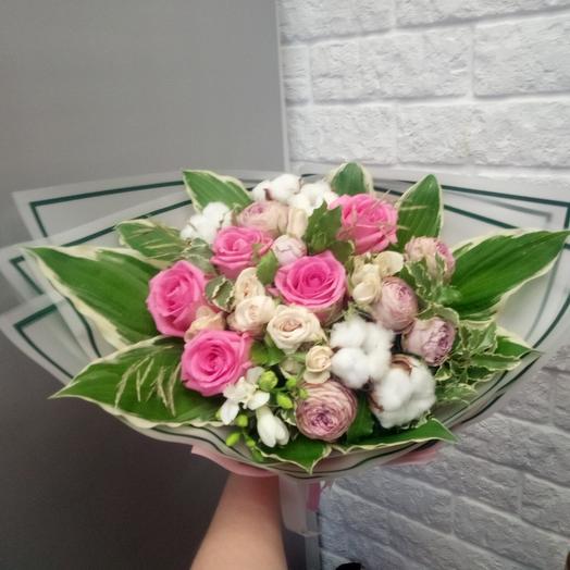 Хлопковое настроение: букеты цветов на заказ Flowwow