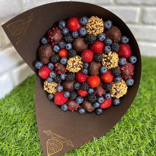 Букет Комбо с темным шоколадом