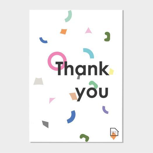 Открытка благодарности - Thank YOU
