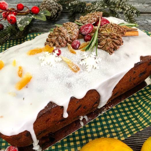 Рождественский пряный кекс на коньяке