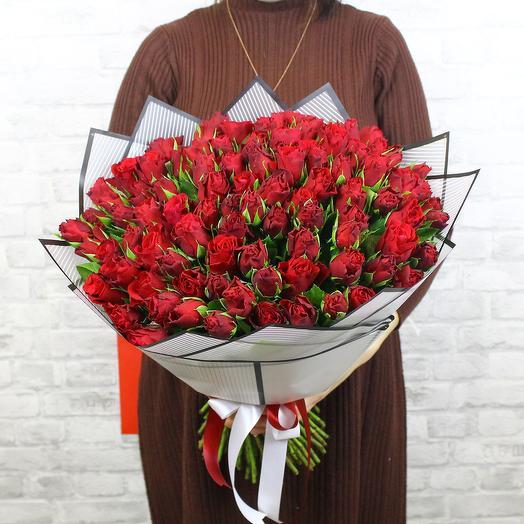 Букет из 101 красной розы Madam Red