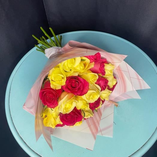 Моно букет из 27 роз