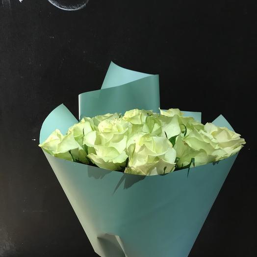 Букет из роз в упаковке