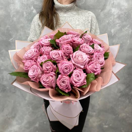Букет «Mary Tim» из 29 лавандовых роз