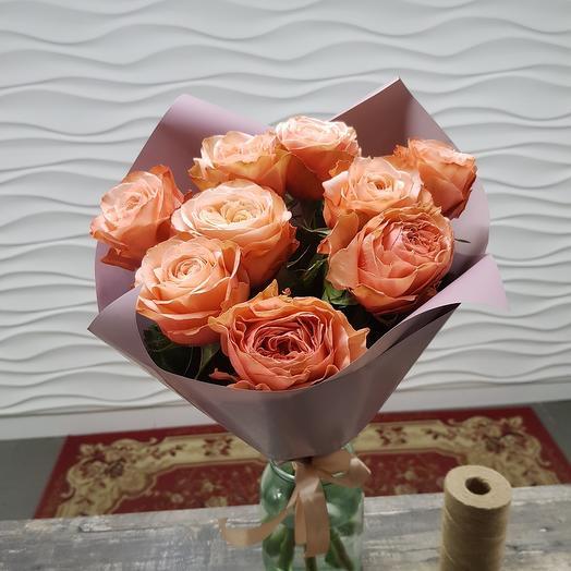 9 пионовидных роз Кахала