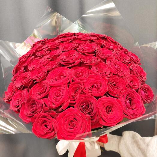✅ Букет 51 Красная роза *КОРОЛЕВА* 👑