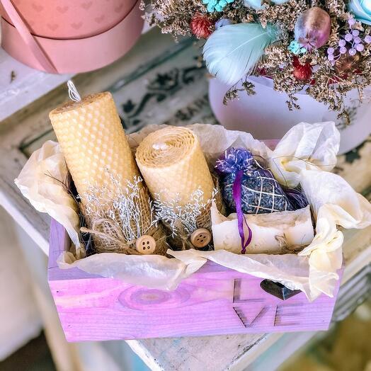 Подарочный набор со свечами
