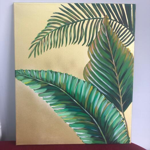 «Дэ пальма»авторская картина ручной работы