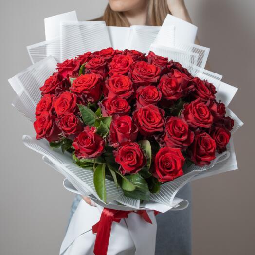 Букет из 41Красной Розы