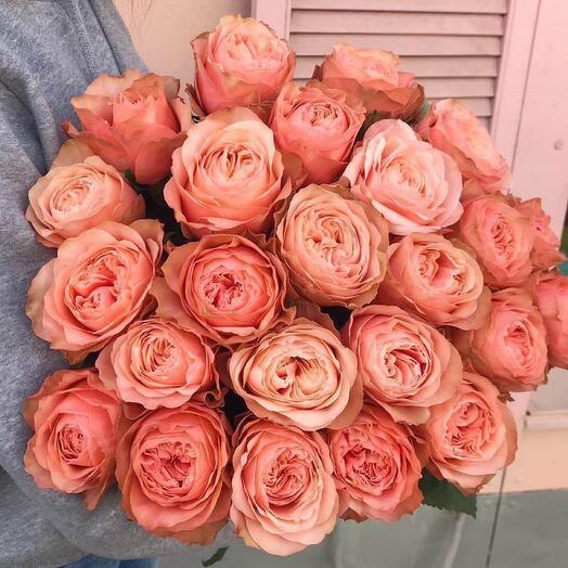 Охапка пионовидных роз 😍 15 шт