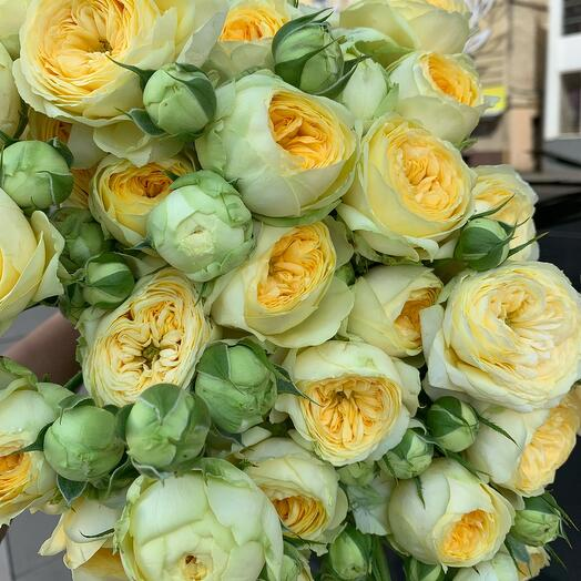 Моно букет з кущових троянд