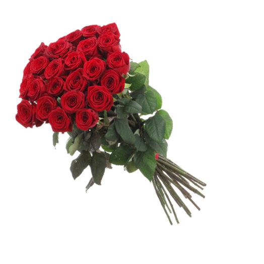 25 красных роз 80 см: букеты цветов на заказ Flowwow
