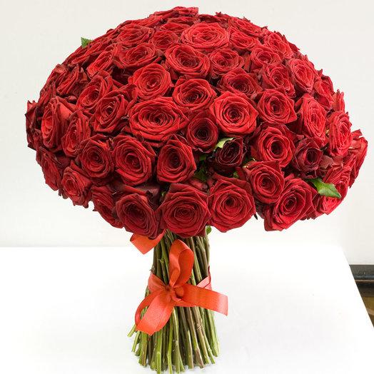 """Букет из 101 розы """"Хит сезона"""": букеты цветов на заказ Flowwow"""