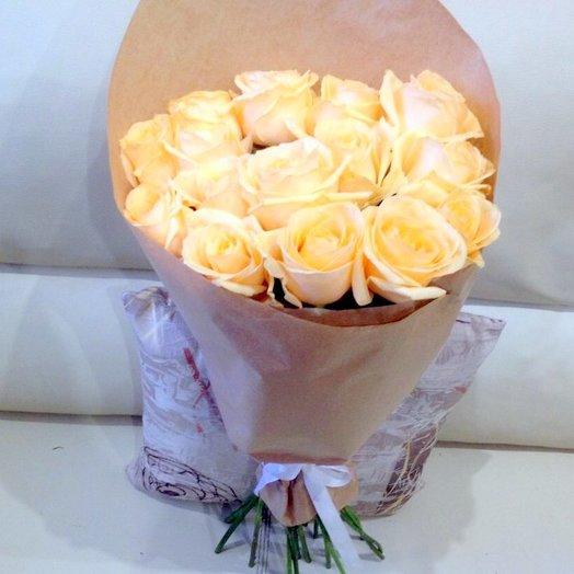 Персиковый рай.: букеты цветов на заказ Flowwow